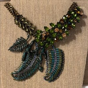 Badgley Mischka Statement Peacock Necklace